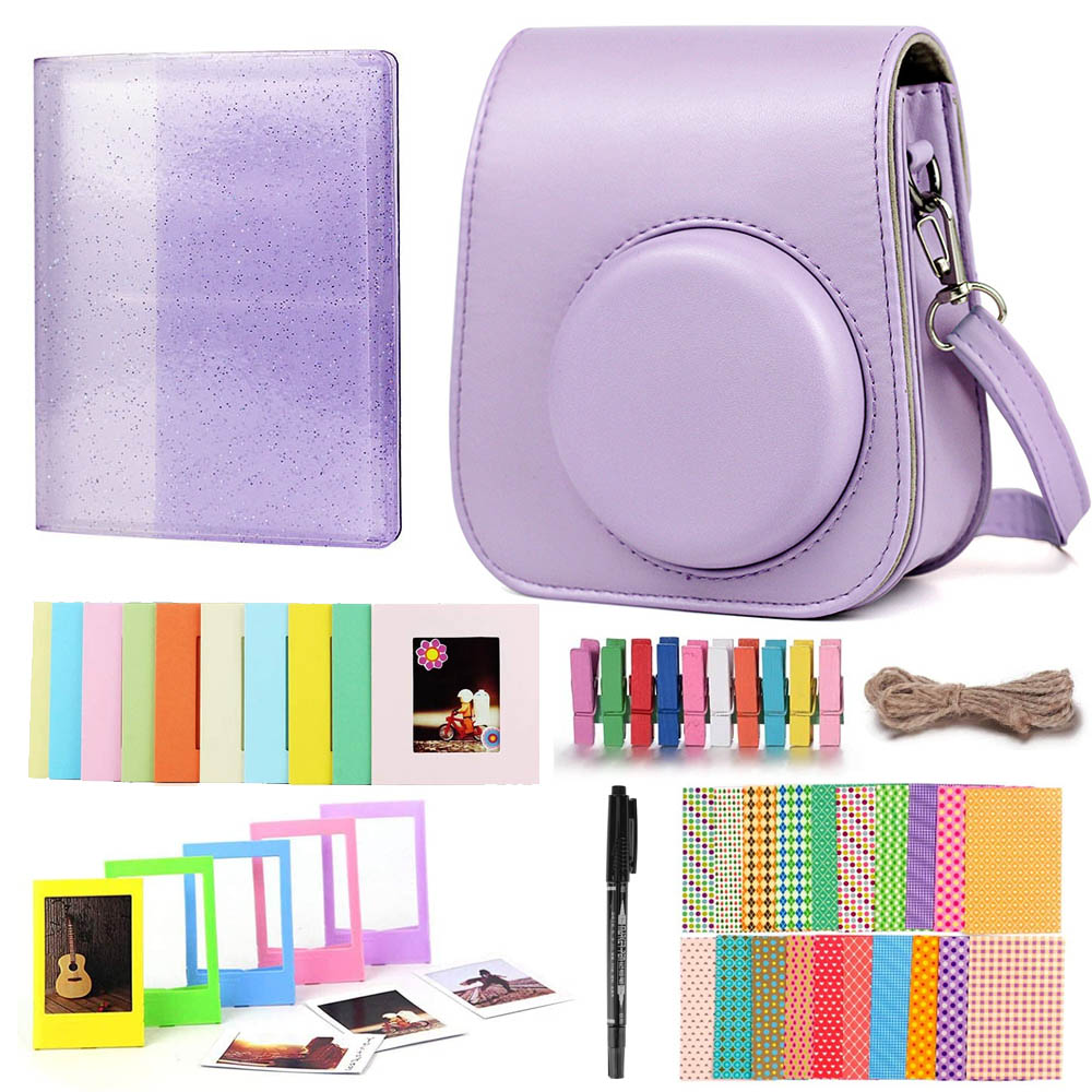 Fujifilm Instax Mini 11 Instant Film Camera Accessories Bundle Shoulder Strap Bag Case Mini Film Photo Album Frames Set
