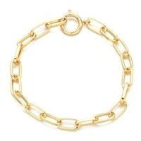 zmzy fashion minimalist statement punk gold color chain for jewelry making diy charm bracelet femme boho thick bracelets bangles
