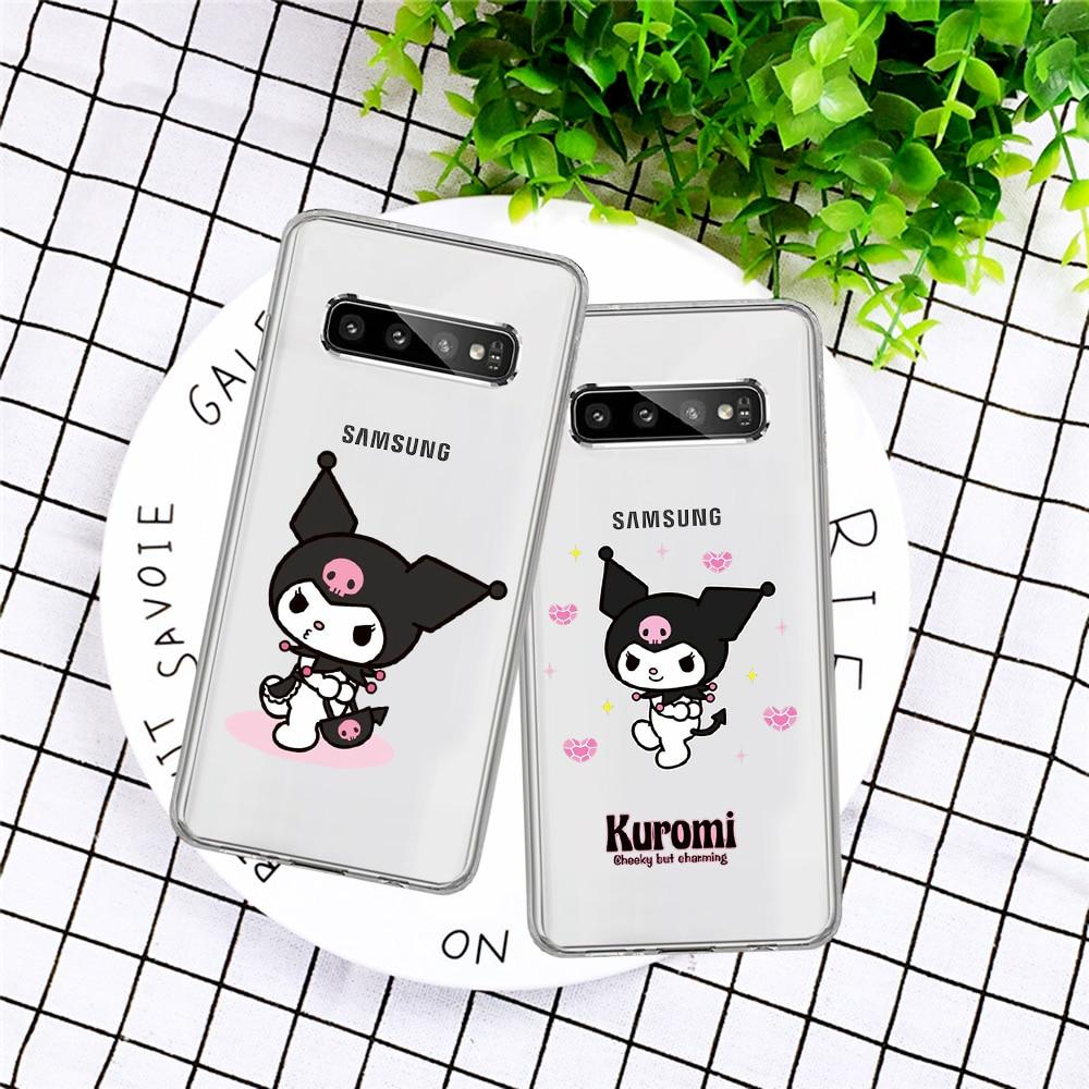 Moda estojo Kuromi Bonito dos desenhos animados Caixa do telefone Para Samsung Galaxy A3 A5 A6 A7 A8 A10 A20E A30 A40 A50 A70 J3 J4 J5 J6 J7 Mais funda
