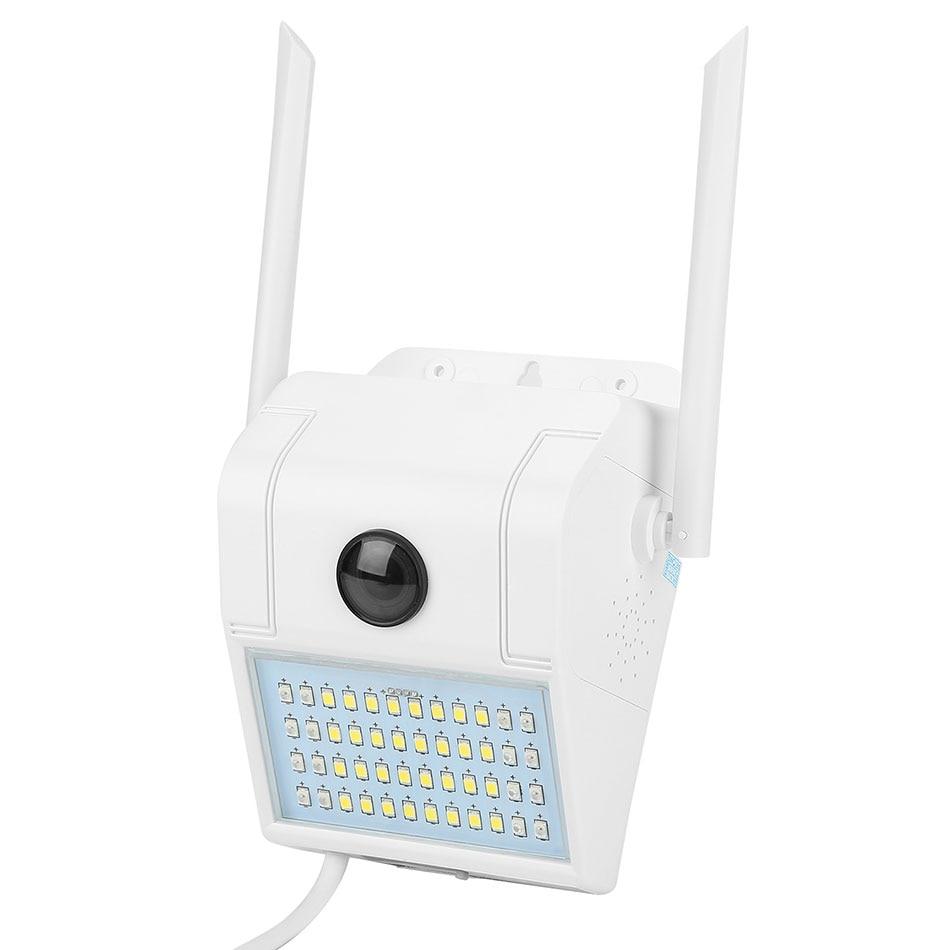 Lámpara de jardín de emergencia impermeable IP66, 32 LEDs, luces solares para porche, lámpara de pared de diodo LED con detección de movimiento, con cámara parlante de 2 vías
