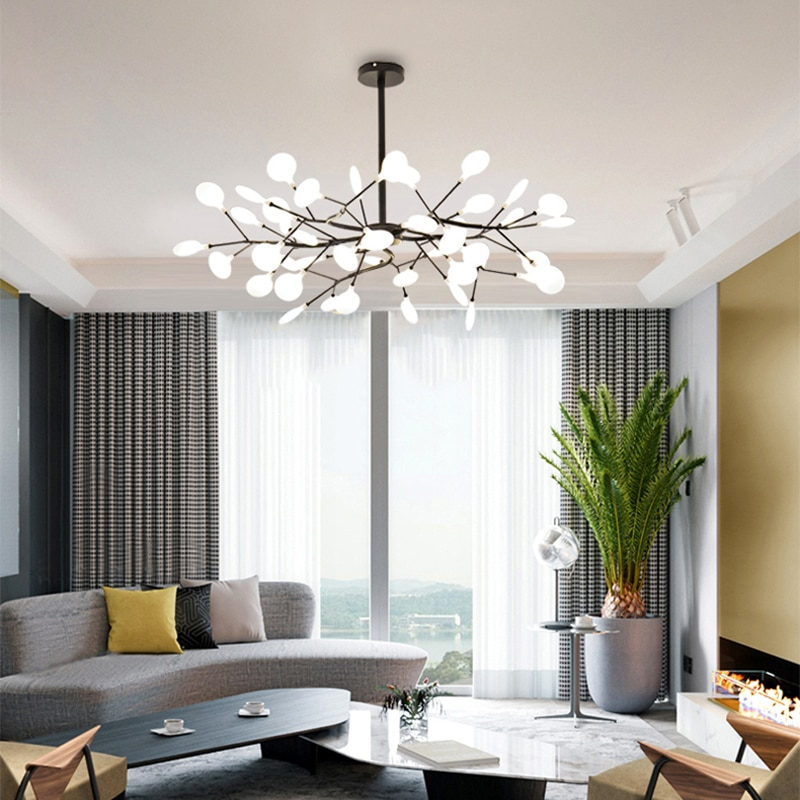 اليراع-ثريا حديثة وبسيطة لغرفة المعيشة وغرفة النوم وغرفة الطعام ، مصباح شبكي أحمر إبداعي ، على الطراز الاسكندنافي ، جديد