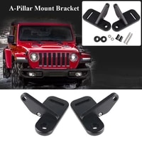 2pcsset car a pillar mount bracket holder trim fit for jeep wrangler jl 2018 2019 car spot light headlamps glass