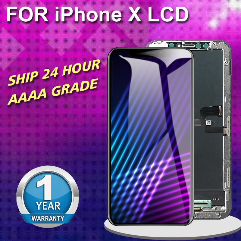 Pantalla LCD TFT OLED AAAA 5,8 + + de pulgadas para iPhone X, pantalla táctil, ensamblaje digitalizador para iPhone X con regalo, sin píxeles muertos