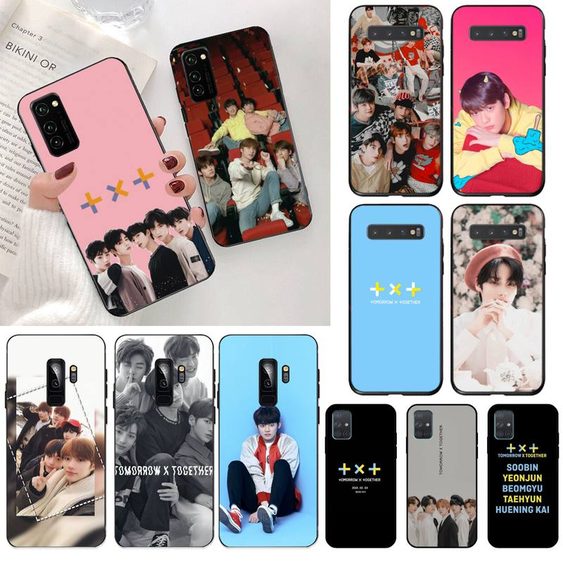 HPCHCJHM TXT TOMORROW X TOGETHER black Phone Case Cover Hull for Samsung S20 plus Ultra S6 S7 edge S8 S9 plus S10 5G lite 2020