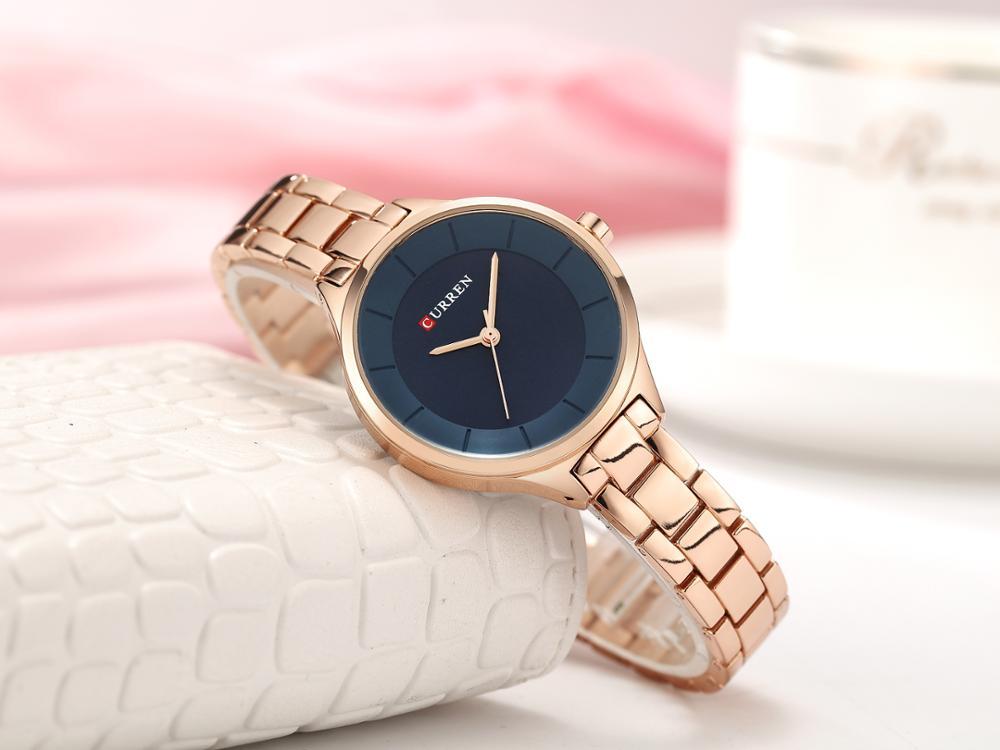 CURREN Women Watches New Collection Ladies Watch Stainless Steel Waterproof Fashion Simple Quartz Wrist Watches Relogio Feminino enlarge