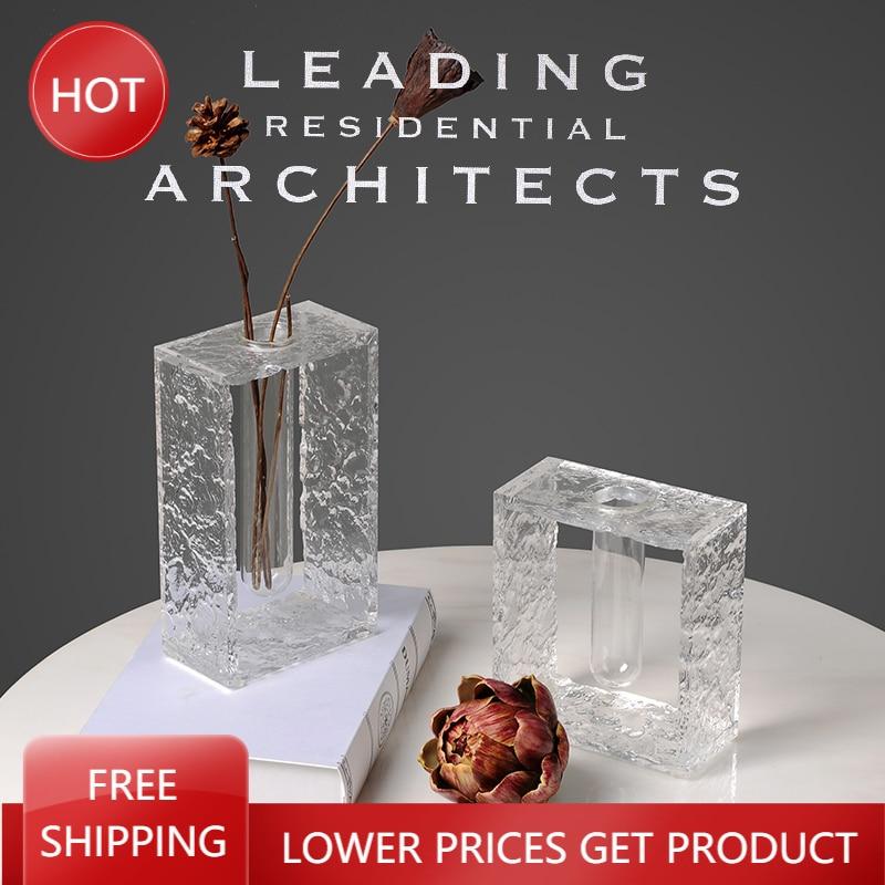 Jarrón de amor de lujo de Cristal, maceta de flores artificiales, decoración...