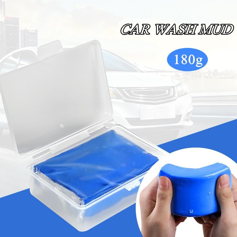 4/2/1Pcs 180g Magic Clay Bar Car Wash Mud Detailing Tool Paint Care Auto Wash Cleaner Car Magic Clean Clay Bar with PVC Box