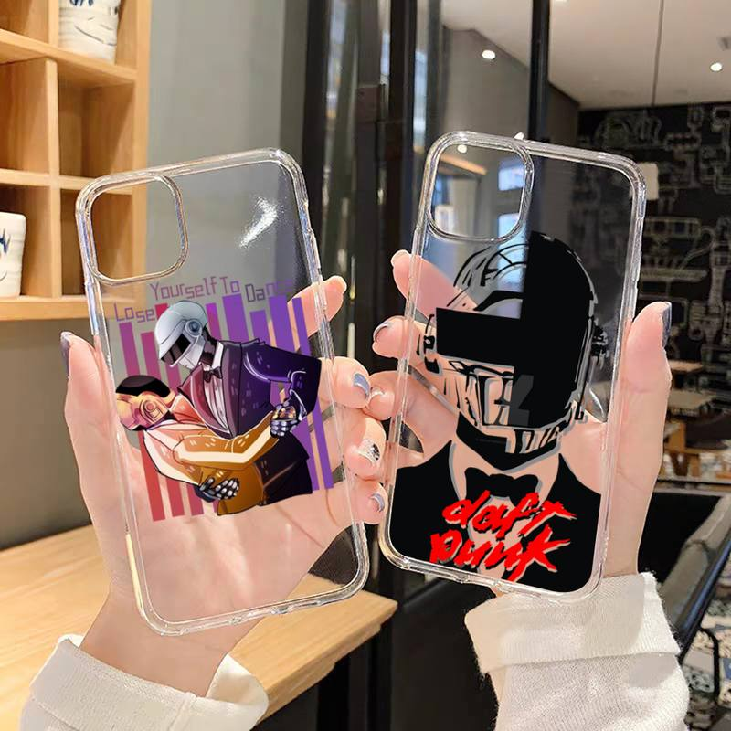 rock music Daft Punk Helmet Phone Case Transparent soft For iphone 5 5s 5c se 6 6s 7 8 11 12 plus mini x xs xr pro max