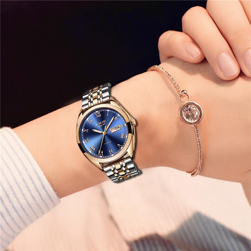 2020 LIGE New Rose Gold Women Watch Business Quartz Watch Ladies Top Brand Luxury Female Wrist Watch Girl Clock Relogio Feminin enlarge