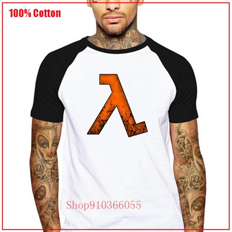 Camiseta naranja de Half Life, Camiseta fresca con estampado de letras, Camiseta...