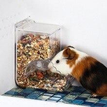 Plastik şeffaf otomatik evcil hayvan besleyici Hamster gine domuz küçük hayvan mama kasesi konteyner Hamster tavşan gıda dağıtıcı besleyici