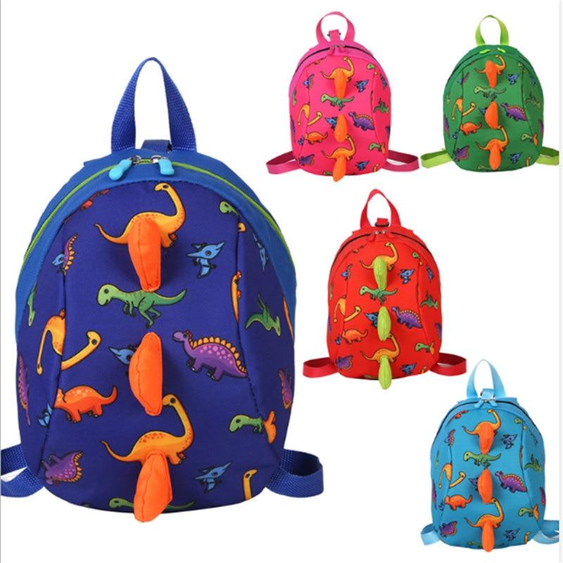Mochila para niños bonita impresión dibujo animado dinosaurio pequeño anti-Pérdida niños mochilas escolares para niños niñas pequeñas niños mochila regalos
