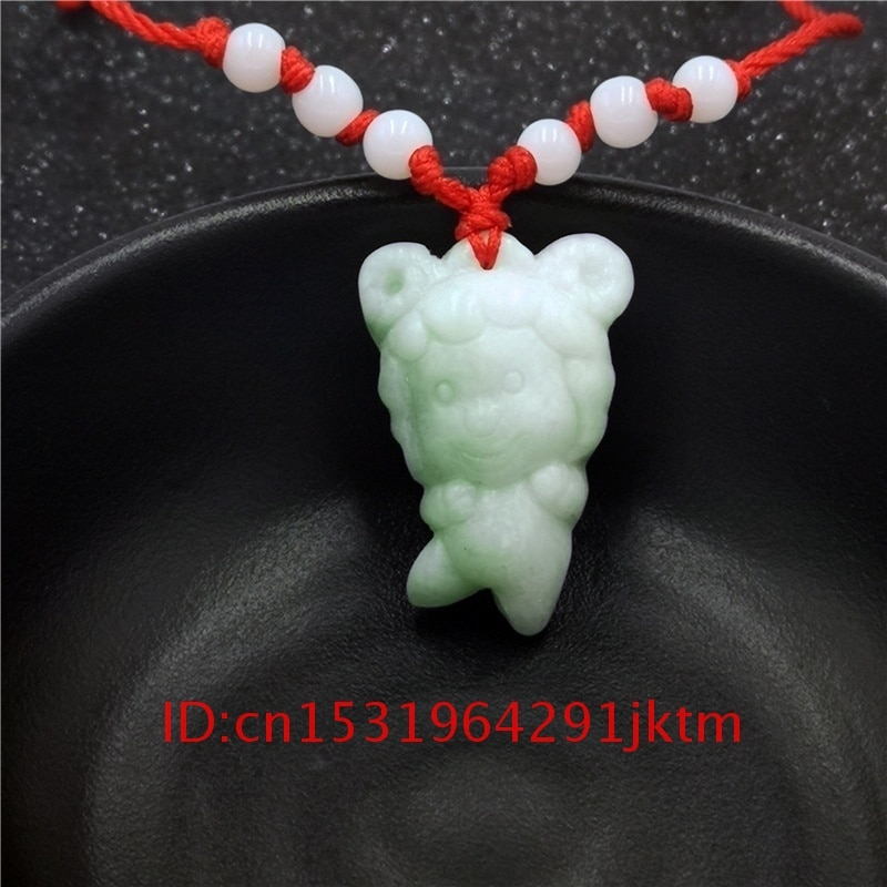 Colar de jade branco colar de jade mão chinesa presentes dos homens moda verde pingente charme feminino zodíaco 1pc natural