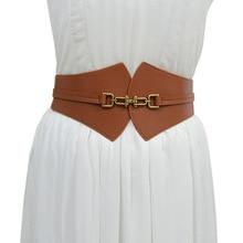 Oluolin Elasticity Corset Belt Fuax Leather Retro Hanging  Buckle Decoration Waistband Ladies All-ma