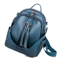 ladies backpack outdoor sport trend soft leather solid color breathable backpack girl casual backpack large capacity travel bags