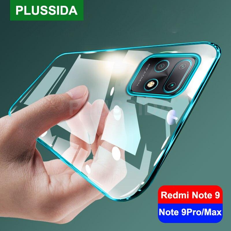 Für Xiaomi Redmi Hinweis 9 Pro Max 9 s Fall Laser Überzug TPU Soft Clear Abdeckung Xiomi Redmi Hinweis 9 s 9 s Note9 Pro Max Note9pro NOTE9s