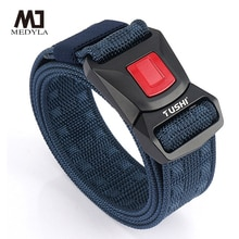 Official Genuine Tactical Belt Quick Release Metal Buckle Military Belt Soft Real Nylon Sports Accessories BLL2030