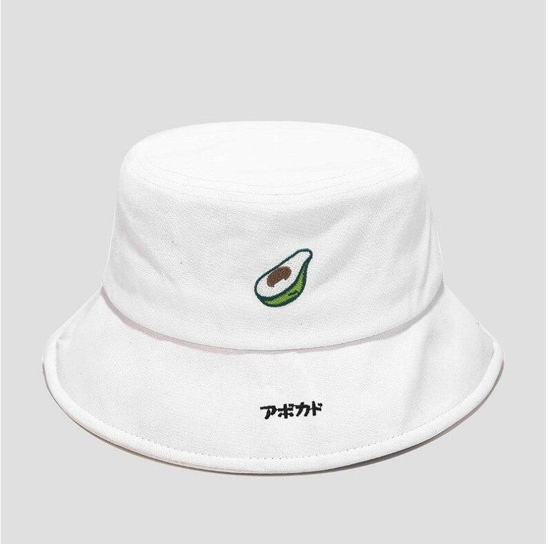 Avocado Bucket Hat Embroidery Fruit Bob Cap Hip Hop Gorros Men women summer Caps Beach Sun Fishing Panama Hat