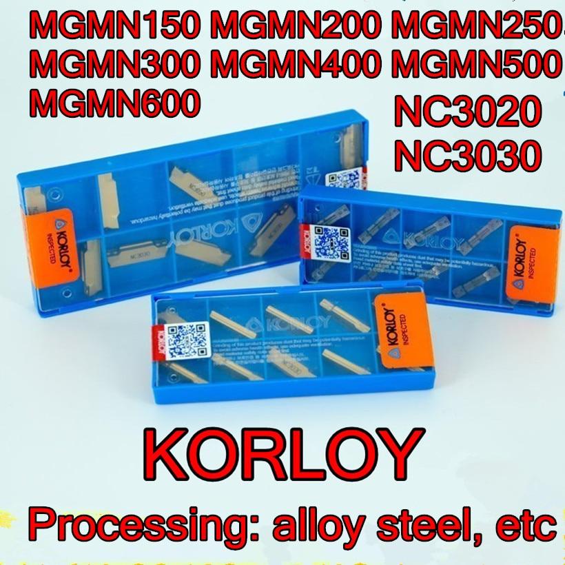 MGMN150-G MGMN200-G MGMN250-G MGMN300-M MGMN400-M MGMN500-M MGMN600-M NC3020 NC3030 KORLOY Carbide insert