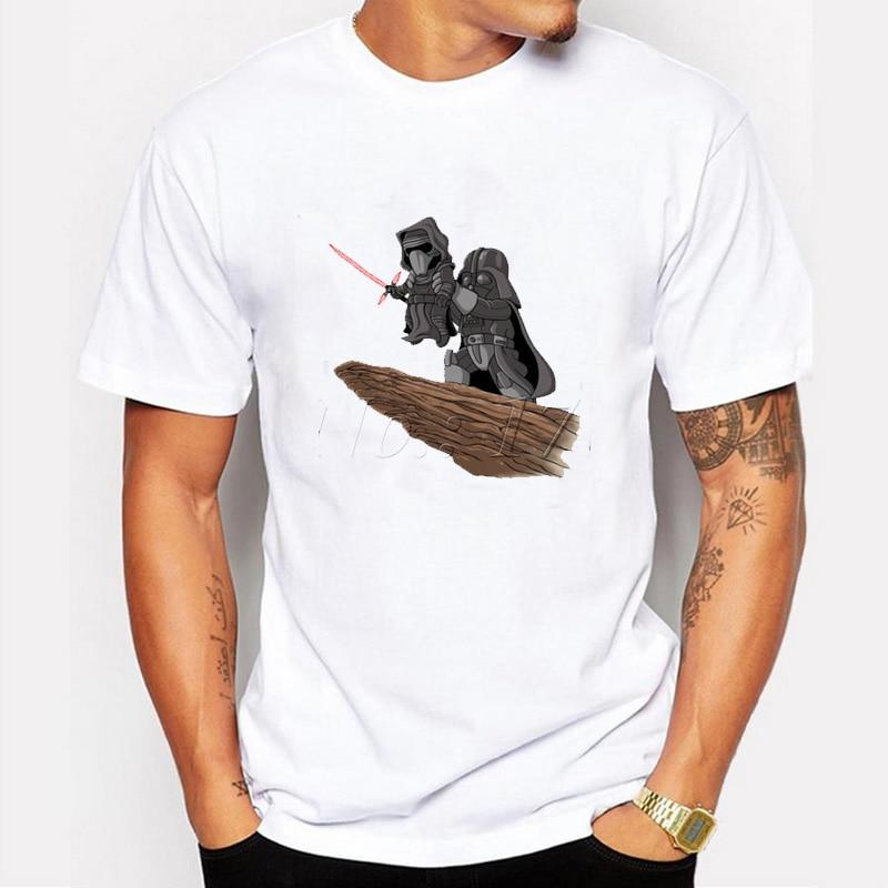 Moderna camiseta personalizada de star wars Para Hombre, geniales camisetas retro con estampado de Darth King, camisetas casuales de manga corta y cuello redondo