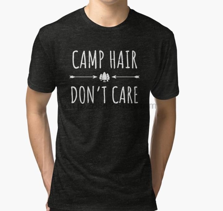 Camiseta de manga corta para hombre, camiseta de manga corta para campamento, no importa el pelo, camiseta de Glamping, camiseta, camisetas para mujer