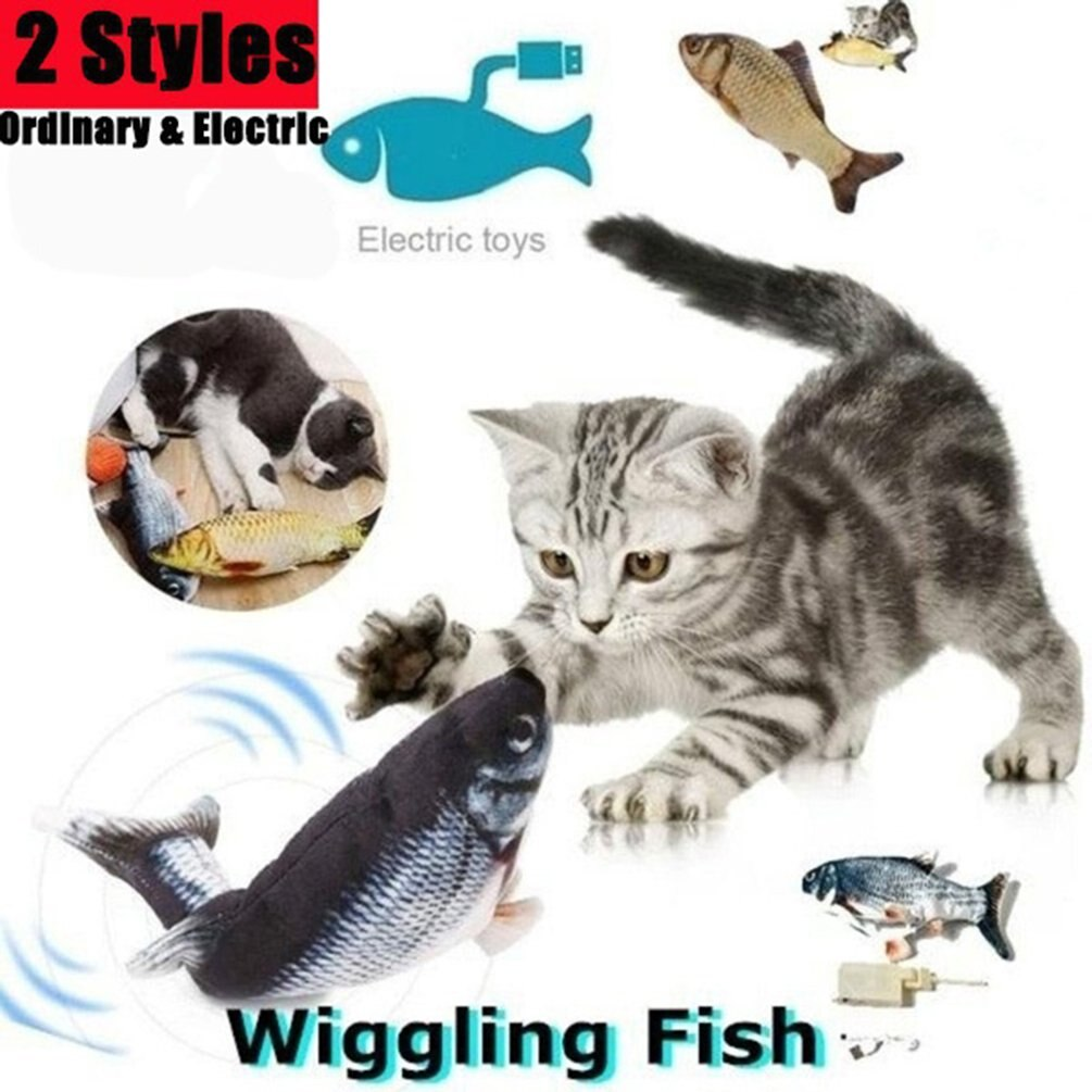 Electronic Cat Toy 3D Fish Electric USB Charging Simulation Fish Toys for Cats Pet Playing Toy Cat S