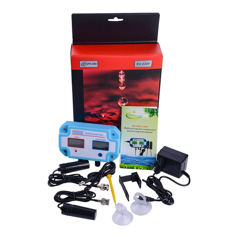 3 en 1 Ph/Orp/Temp Detector de calidad del agua controlador de Ph enchufe de relé electrodo reemplazable tipo Bnc probador de Calidad del Agua UE