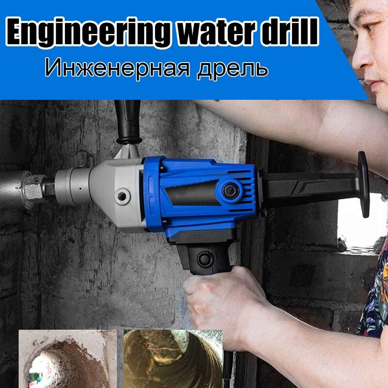 Taladro de agua diamante 2100 W-3200 W 220V Taladro de núcleo de diamante máquina de perforación de base de hormigón de mano húmeda con accesorios de bomba de agua