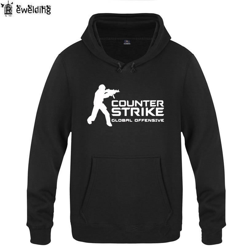 Sudaderas con capucha juego Counter Strike CSGO impresión Sudadera con capucha de los hombres de lana de manga larga Hombre sudadera Pullover de Moleton Masculino