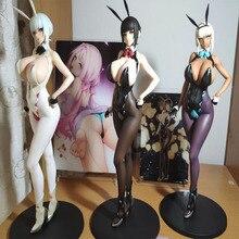 GZTZMY 25cm q-six fille lapin Sexy Erika Izayoi corps doux filles Sexy PVC figurine modèle animé