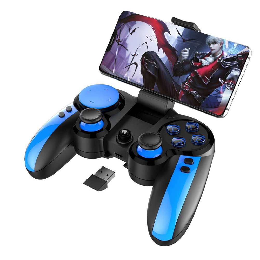 iPega 9090 Bluetooth Game Controller for PUBG Mobile Phone Wireless Gamepad Smartphone Gaming Joystick Stand for iPhone Android