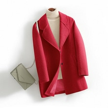 Fashion Spring Woolen Coat Women Lapel Jacket Short Tops Hot Selling in Europe and America Free Ship
