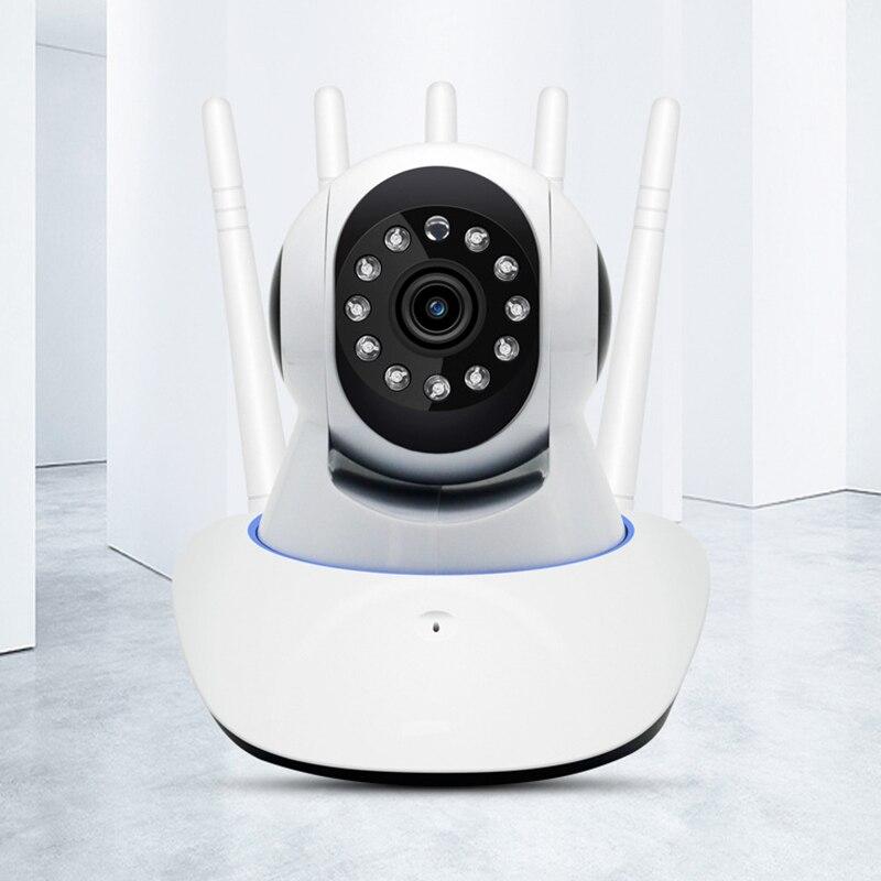 Cámara de red inalámbrica WIFI teléfono móvil Control remoto Super señal cámara de vigilancia del hogar enchufe de la UE