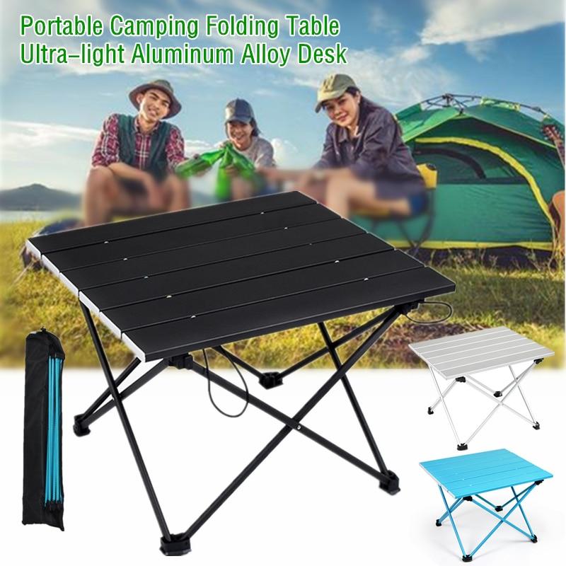 Portable Aluminum Alloy Folding Table Mini Barbecue Camping Desk Outdoor Hiking Picnic Table