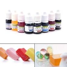 8 Kleuren 5Ml Dye Handgemaakte Zeep Pigmenten Kleurstof Toolkit Materialen Handgemaakte Zeep Basis Kleur Vloeibare Pigment