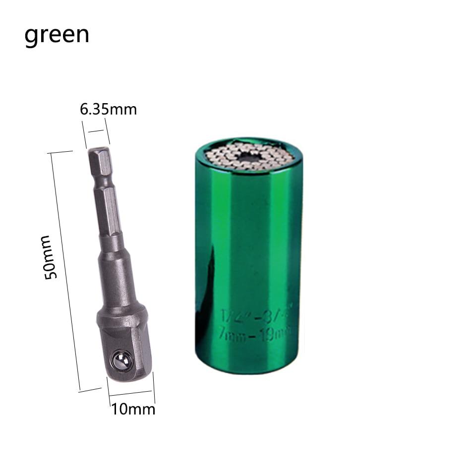7-19 mm Universal Torque Wrench Head Set Socket Sleeve Ratchet Bushing Spanner Power Drill Key Multi Hand Tools