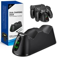 dual charger dock for ps4 controller usb fast charging dock game controller station for playstation 4ps4 props4 games console