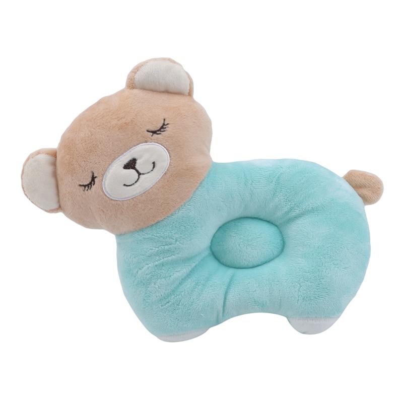 Cute Cartoon Baby Pillow Shape Toddler Sleeping Positioner Cushion Flat Head Protect Newborn Animal Pillow  Baby Bedding
