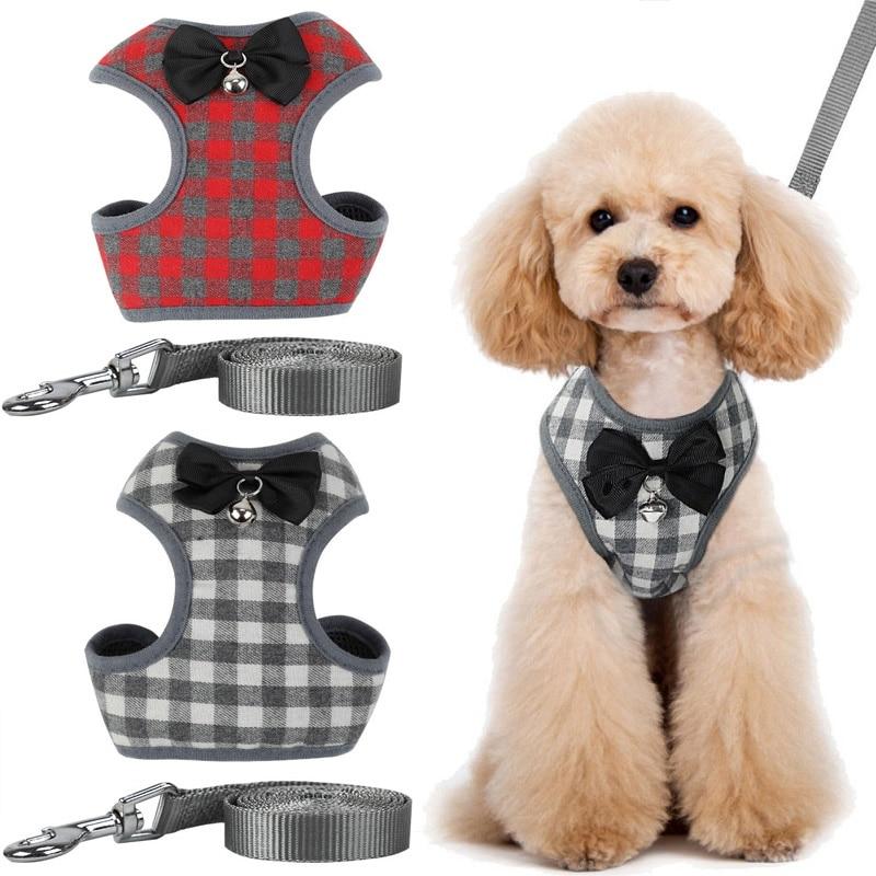 Arnés para mascotas, cuerda de tracción, celosía con lazo para mascota, correa para pecho, Collar tipo camiseta, cuerda de tracción, ropa, arneses