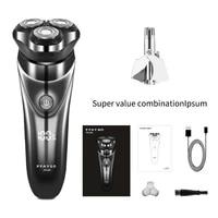 pfay electric shaver mens razor nose hair and beard trimmer mens premium portable shaver hair clipper facial hair removal