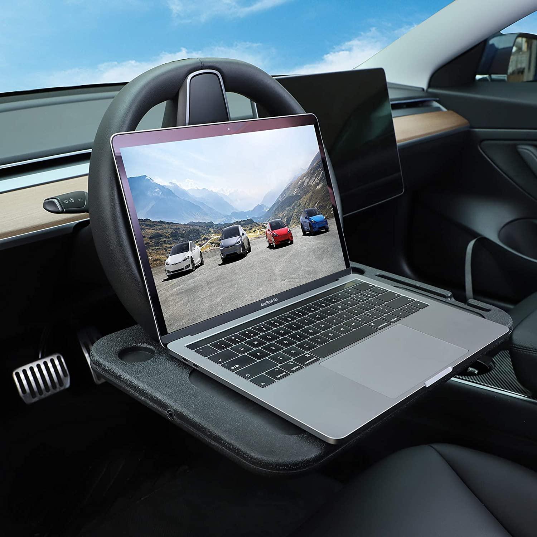 Soporte de volante para coche Tesla Model 3 S X Y, bandeja...