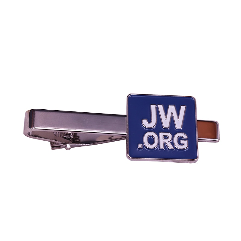 Elegant Jw.org tie clip blue gentlemen metal tie tack simple men business accessories