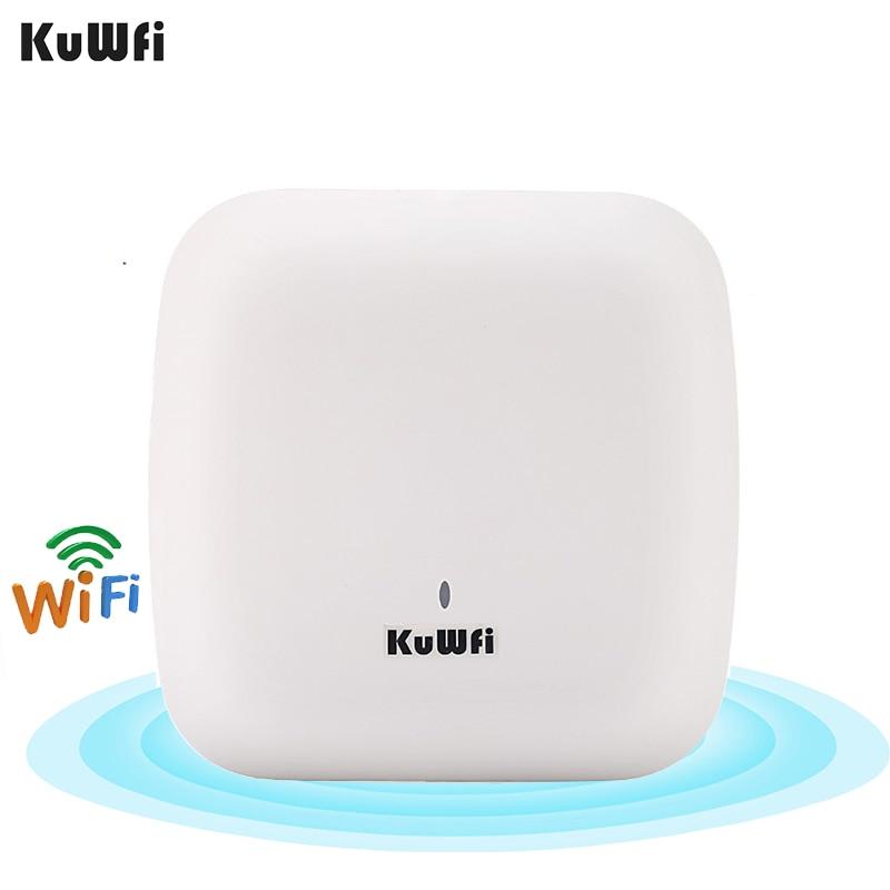 KuWFi 1200Mbps موزع إنترنت واي فاي 12 فولت تيار مستمر الطاقة جيجابت موزع إنترنت واي فاي واي فاي مع المدمج في 4dBi مكاسب عالية هوائيات WAN/LAN ميناء