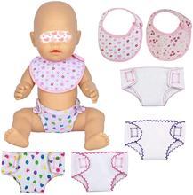 Accessoires Voor Poppen 4Pcs Baby Pop Luiers Pop Ondergoed En 2 Stuks Pop Biedingen Voor 14 Tot 18 Inch babypop