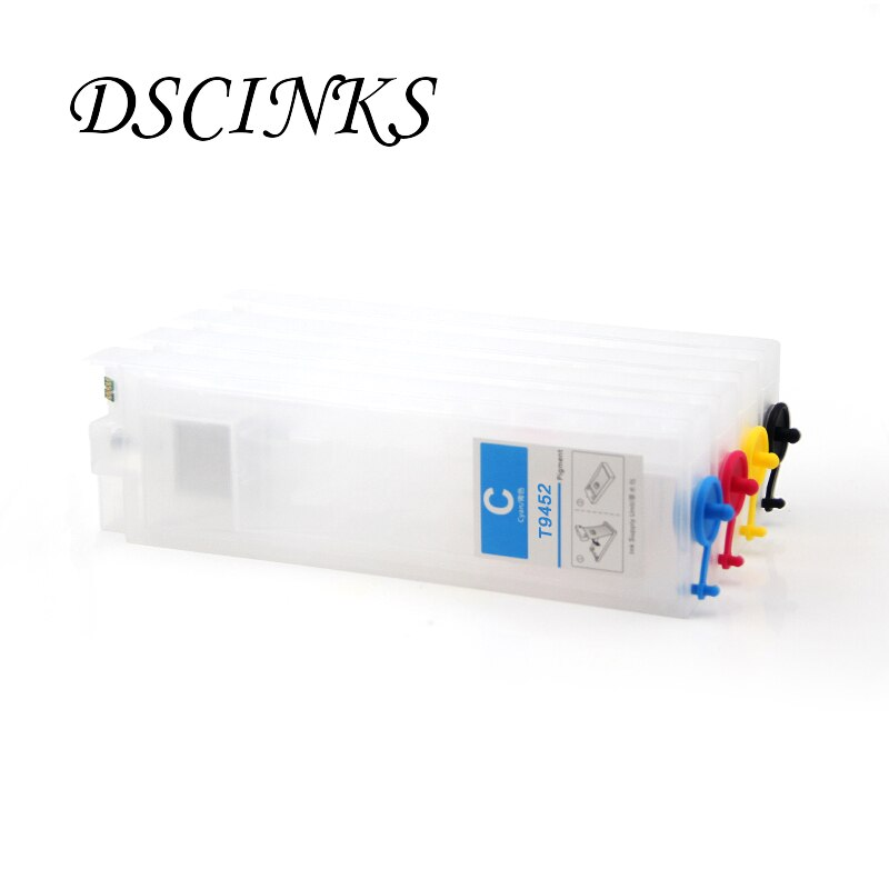 Refillable ink cartridge with permanent chip For Epson T9451-T9454 For Epson WorkForce Pro WF-C5290 C5790 WF-C5210 C5710 printer