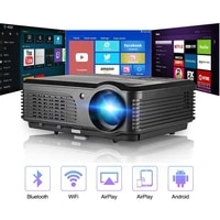 CAIWEI A6 A6AB intelligent Android WiFi LCD LED Bluetooth projecteur Home cinema 5000 Lumens Full HD video Mobile projecteur pour Smartphone