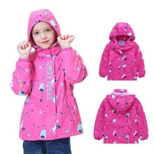 2020 Spring Autumn Girls Jacket Warm Polar Fleece Waterproof Windproof Jackets Girls Coats Child Hooded Outerwear For 3-12 y