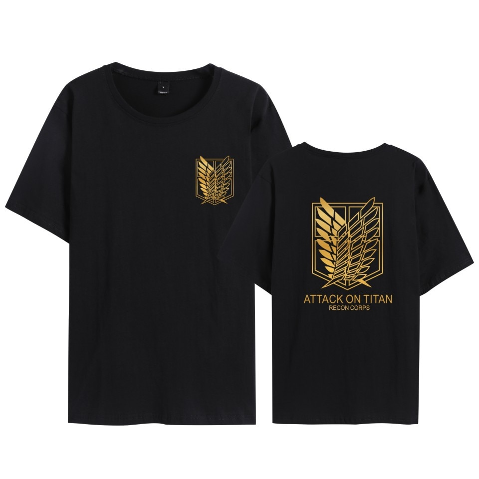 Attack on Titan Oversized T-shirts Anime Shingeki No Kyojin Plus Size Clothes Scout Regiment Cosplay Costumes Role Play Clothing