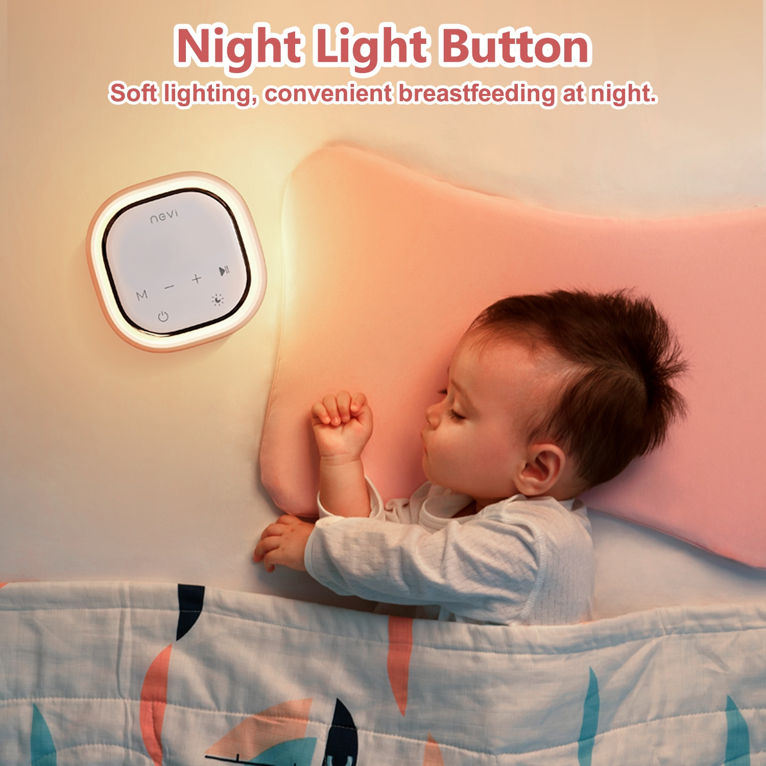 NCVI Double Electric Breast Pumps,Protable Dual Breastfeeding Milk Pump with Night Light,Touch Screen Adjustable Mode  pop it enlarge