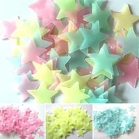 3d star and moon energy storage fluorescent glow in the dark bedroom room on for kids baby luminous stickers wall decal liv i2l2